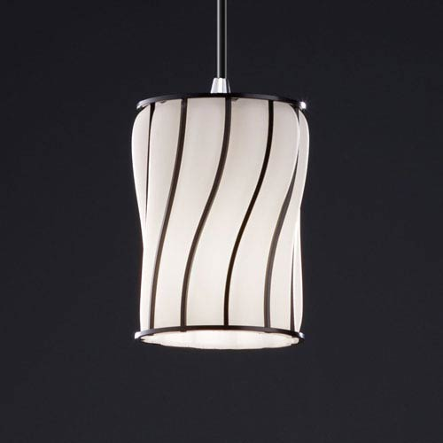 Wire Glass Modular Polished Chrome Mini Pendant