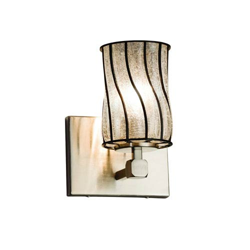 Wire Glass Brushed Nickel 6-Inch LED Wall Sconce