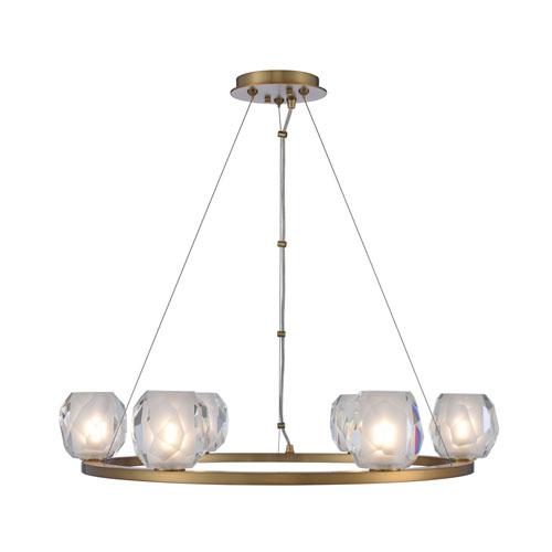 Stella Winter Brass LED Six-Light Pendant