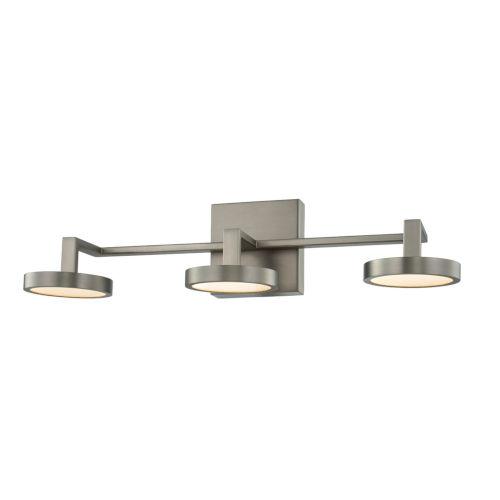 Eaton Satin Nickel Three-Light LED Bath Vanity