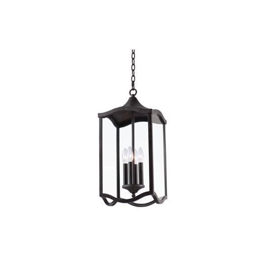 Lakewood Outdoor Aged Iron Four-Light Outdoor Hanging Lantern