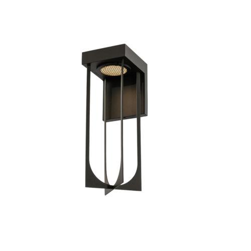 Optika Matte Black LED Outdoor Wall Sconce