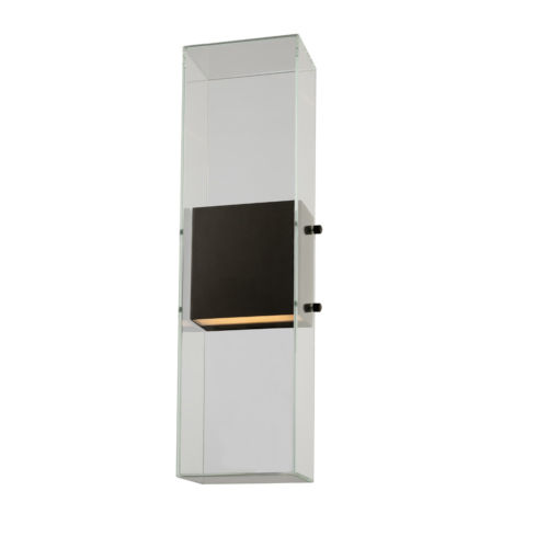 Aria Matte Black LED ADA Outdoor Wall Sconce