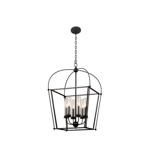 Sutter Smooth Matte Black Six-Light Pendant