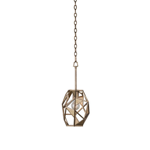Esmeralda Pearlized Antique Brass One-Light Mini Pendant
