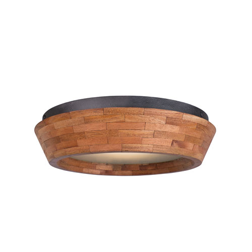 Lansdale Black Iron 14-Inch One-Light Flush Mount