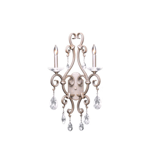 Kalco Lighting Palladium Pearl Silver Two-Light Wall Sconce