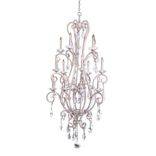 Palladium Pearl Silver 15-Light Chandelier
