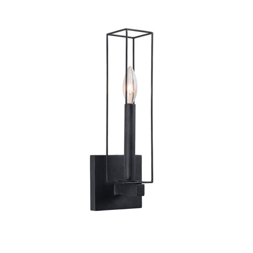 Allston Black Iron One-Light Sconce