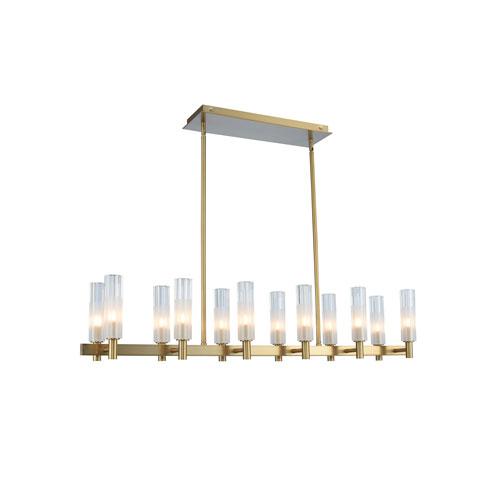 Lorne Winter Brass 12-Light LED Island Pendant