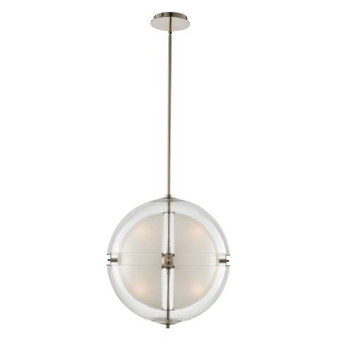 Sussex Polished Nickel Four-Light LED Pendant