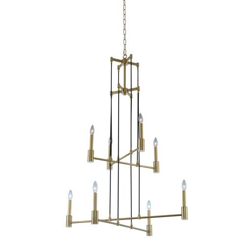 Kingston Winter Brass Eight-Light Chandelier