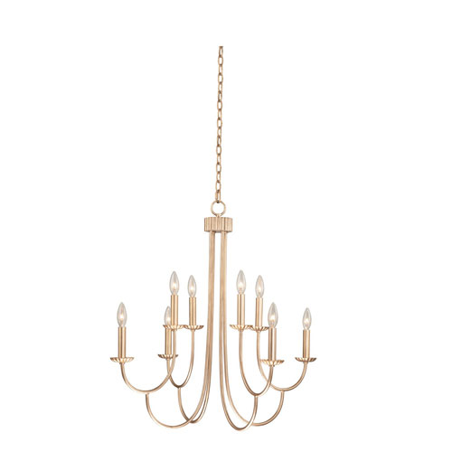 Kiera Modern Gold Eight-Light Chandelier