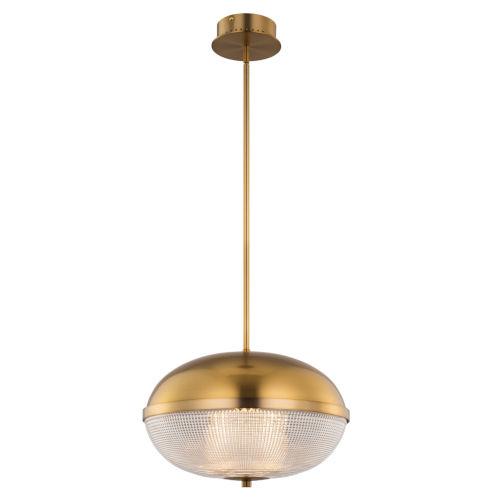 Portland Winter Brass LED Pendant