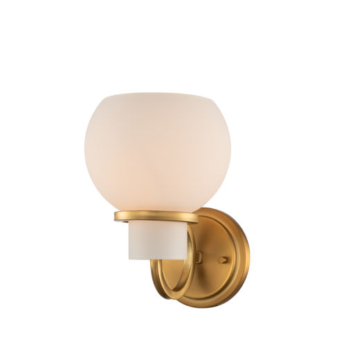 Ascher Winter Brass One-Light Wall Sconce