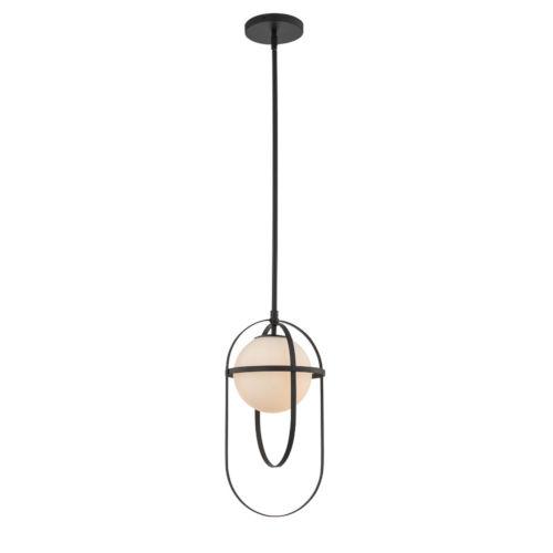 Lennox Matte Black One-Light Mini Pendant