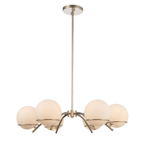 Everett Polished Nickel Six-Light Chandelier