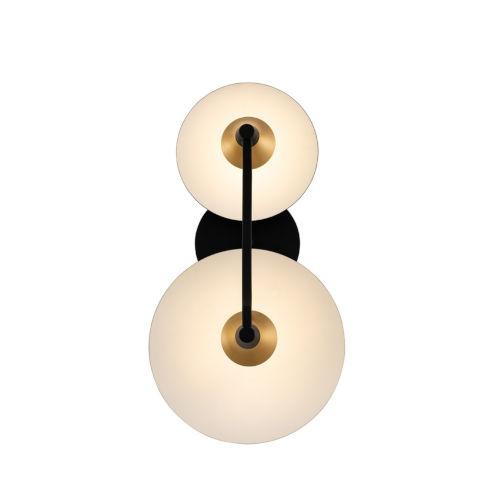Redding Matte Black Two-Light LED Wall Sconce