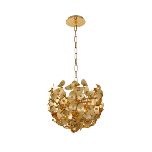 Aster Gold Three-Light Pendant