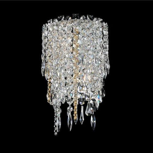 Tenuta Polished Chrome Two-Light Wall Sconce with Firenze Crystal