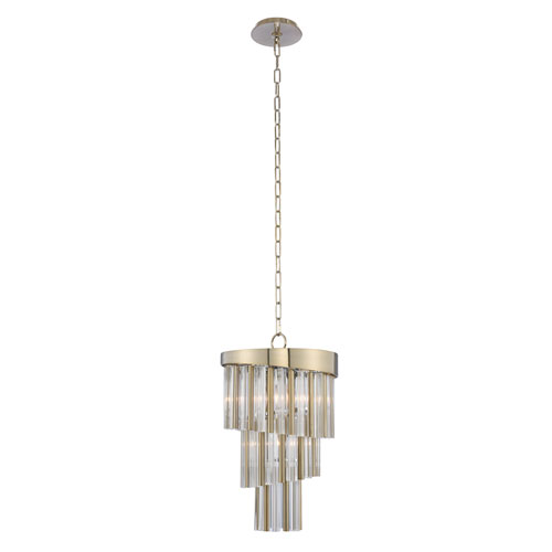 Espirali Champagne Gold Four-Light Mini Pendant