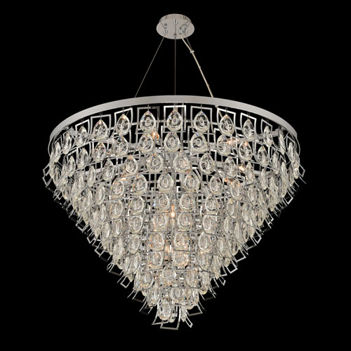 Carmella Chrome 15-Light Pendant