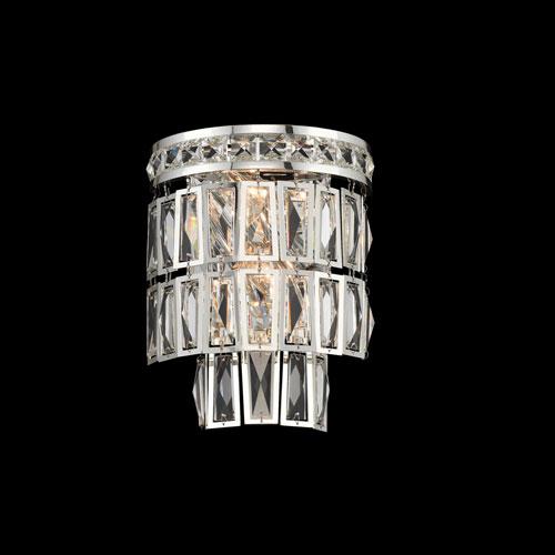 Kasturi Silver Two-Light Sconce