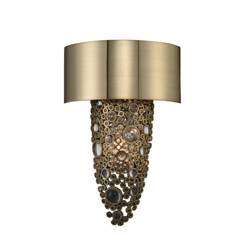 Ciottolo Champagne Gold Two-Light Sconce