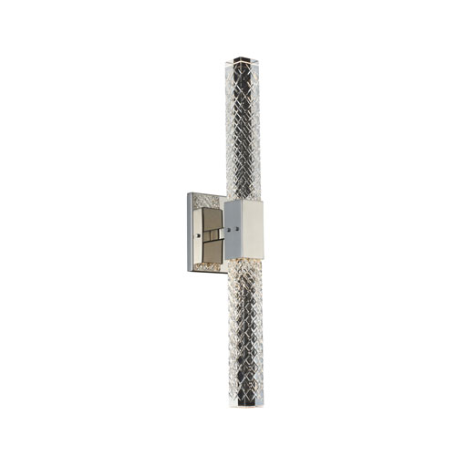 Apollo Chrome Five-Inch Two-Light LED ADA Wall Sconce with Firenze Crystal