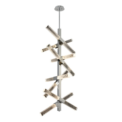Apollo Chrome 22-Inch 16-Light LED Pendant with Firenze Crystal
