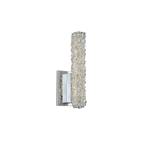 Lina Chrome Five-Inch LED Wall Sconce with Firenze Crystal