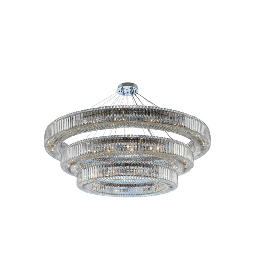 Rondelle Chrome 60-Inch 48-Light Pendant with Firenze Crystal