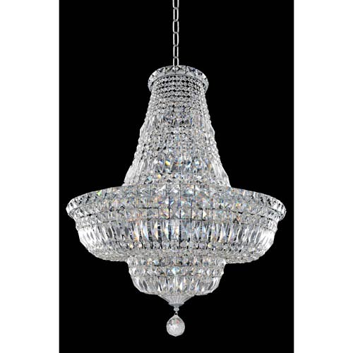 Allegri by Kalco Betti Chrome 18-Light Chandelier with Firenze Clear Crystal