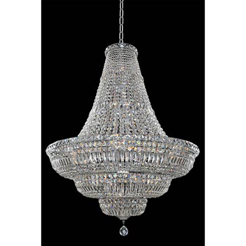 Betti Chrome 33-Light Chandelier with Firenze Clear Crystal