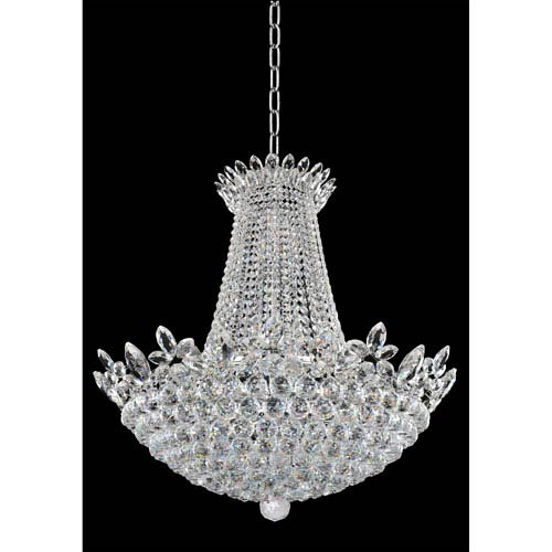 Allegri by Kalco Treviso Chrome 21-Light Chandelier with Firenze Clear Crystal