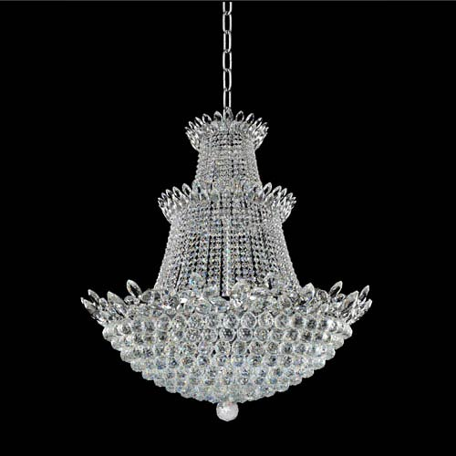Allegri by Kalco Treviso 18K Gold 30-Light Chandelier with Firenze Clear Crystal