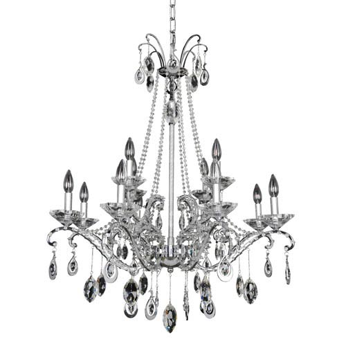 Allegri by Kalco Torrelli Chrome 12-Light Chandelier with Firenze Clear Crystal