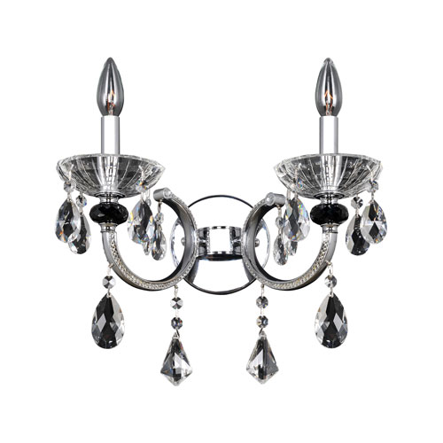 Allegri by Kalco Steffani Chrome Two-Light Wall Bracket with Firenze Clear Crystal