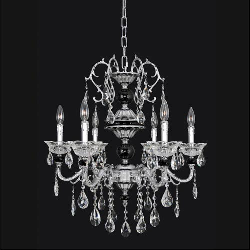 Allegri by Kalco Faure Chrome Four-Light Chandelier with Swarovski Strass Clear Crystal