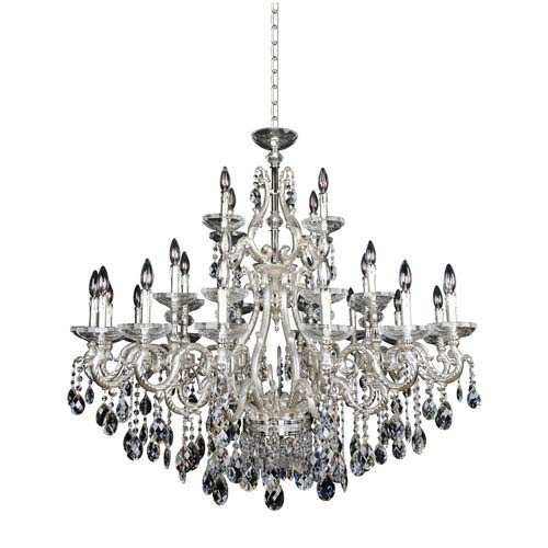 Allegri by Kalco Rossi Two-Tone Silver 30-Light 47-Inch Wide Chandelier with Firenze Clear Crystal