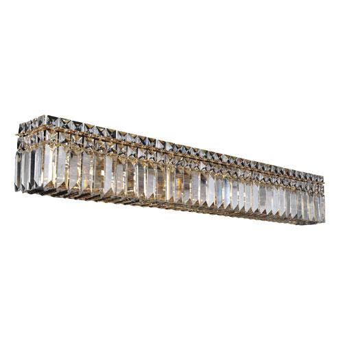 Allegri by Kalco Vanita 18K Gold Eight-Light Wall Bracket with Firenze Clear Crystal