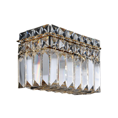 Allegri by Kalco Vanita 18K Gold Two-Light Wall Bracket with Firenze Clear Crystal