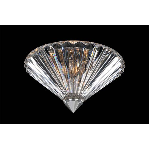 Allegri by Kalco Chauvet Chrome Two-Light 10-Inch Flush Mount with Firenze Clear Crystal