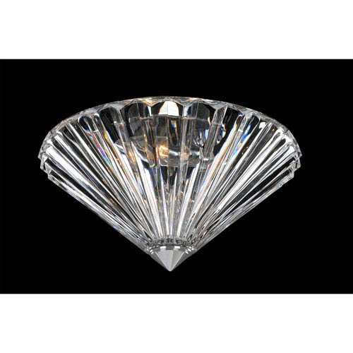 Allegri by Kalco Chauvet Chrome Two-Light 12-Inch Flush Mount with Firenze Clear Crystal