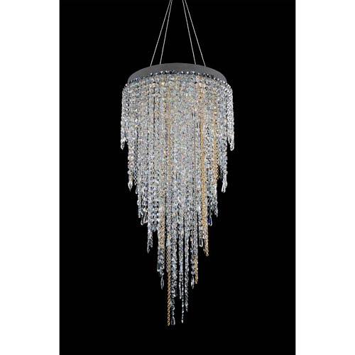 Allegri by Kalco Tenuta Chrome 10-Light Chandelier with Firenze Clear Crystal