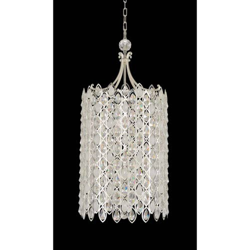 Allegri by Kalco Prive Two-Tone Silver Six-Light 89-Inch Pendant with Firenze Clear Crystal