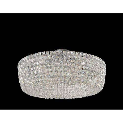Cessano Polished Chrome Six-Light Semi Flush with Firenze Clear Crystal