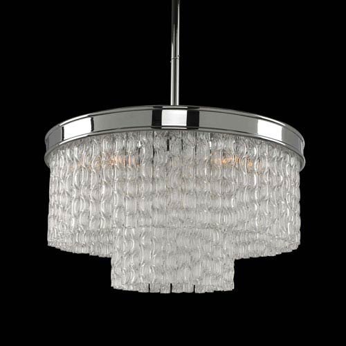 Allegri by Kalco Savena Polished Chrome Five-Light Pendant with  Crystal