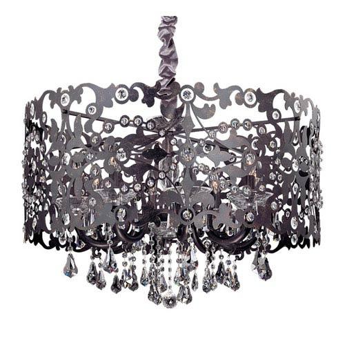 Bizet Sienna Bronze Eight-Light Chandelier with Firenze Clear Crystal