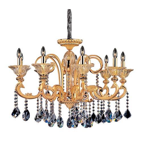 Allegri by Kalco Legrenzi Two-Tone 24K Gold Nine-Light Chandelier with Firenze Clear Crystal